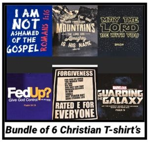 Other - Christian T-shirts - Funny Bundle of 6 -Size Large
